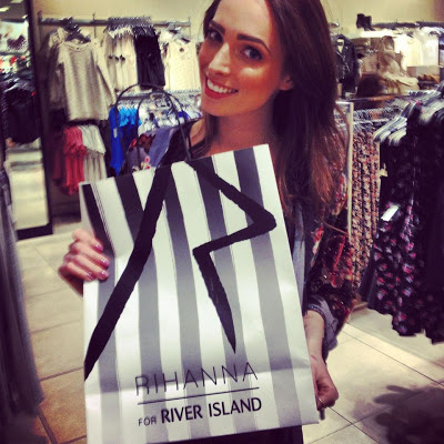 Rihanna for River Island Press Event.