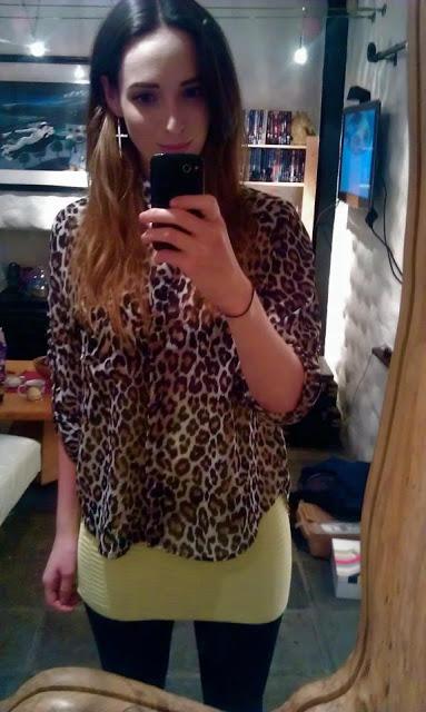 Neon Mini and Leopard Shirt.