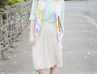 Outfit Post: Minty Fresh ~ & DIY Collar-Tips!