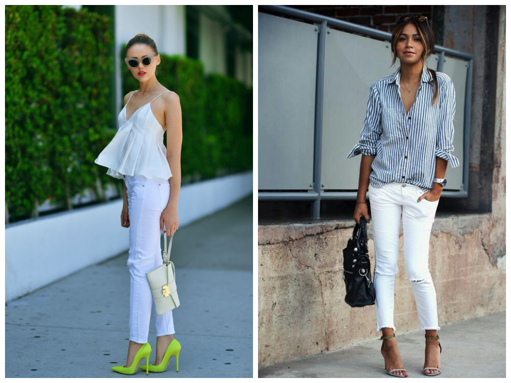 white jeans trend - Jean Yu Beauty