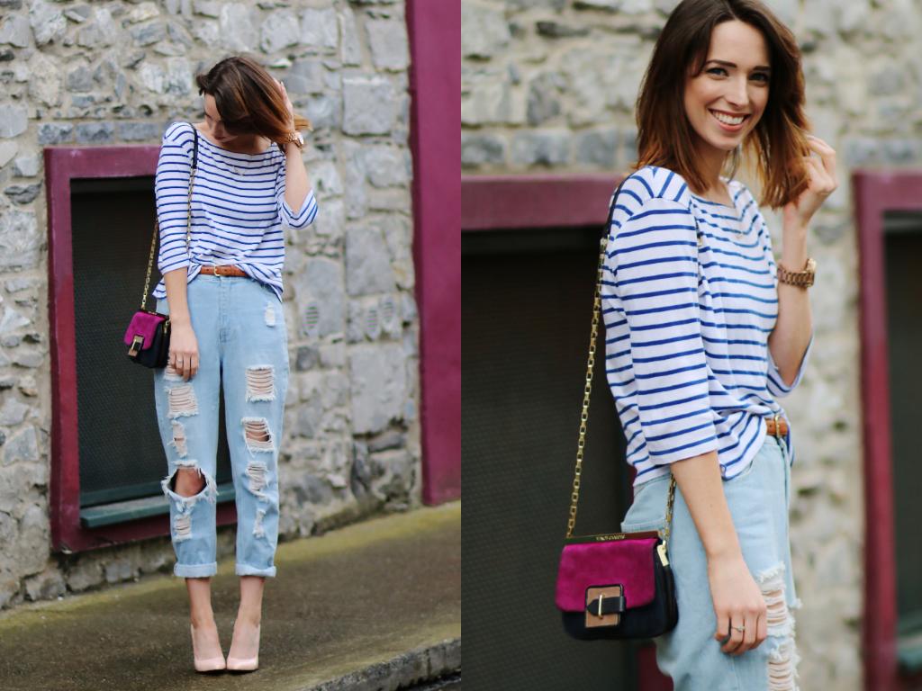 Style Diary: Breton Stripes & Ripped Knees