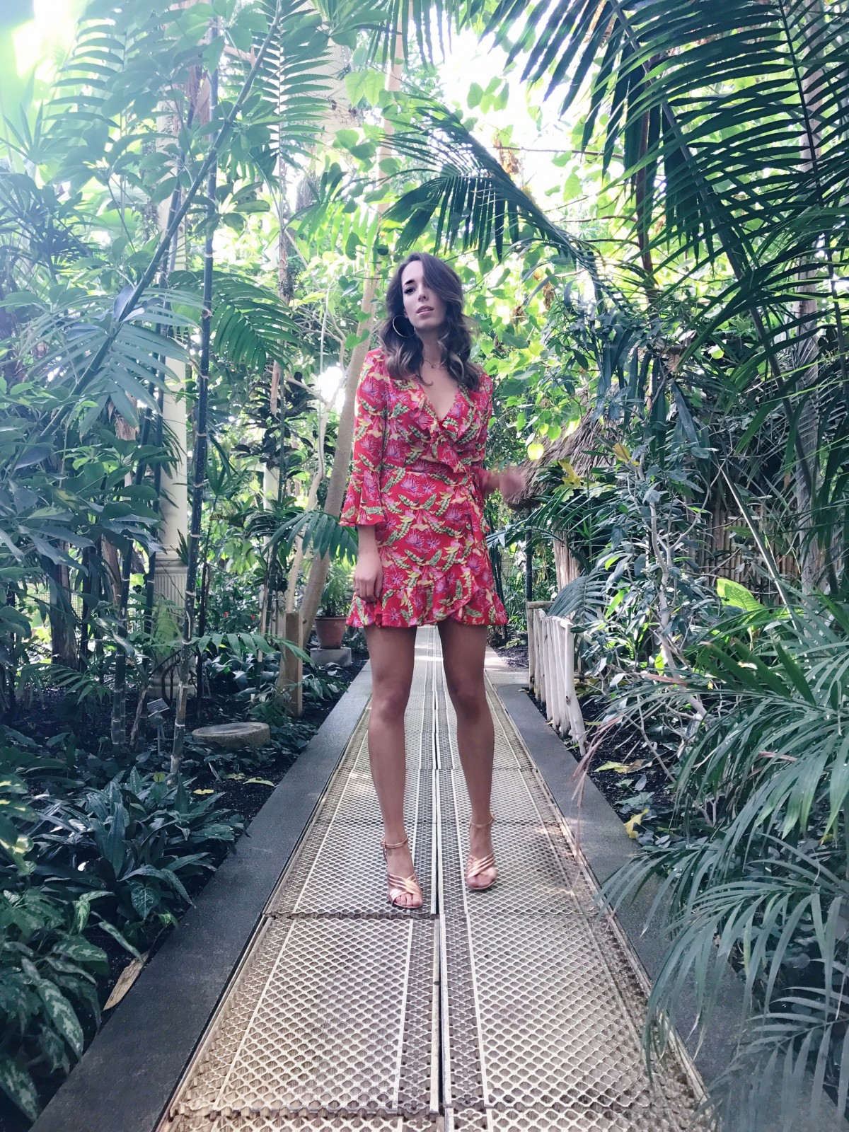 tropical print summer dress, summer print dress, how to wear tropical print