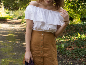 Bardot Tops & Suede Skirts
