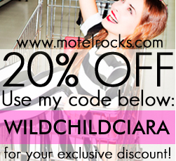 Motel Rocks Street Team ~ 20% Discount to all WildChild Stories Readers!