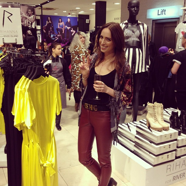 Reporting at the Rihanna X River Island Collection Launch