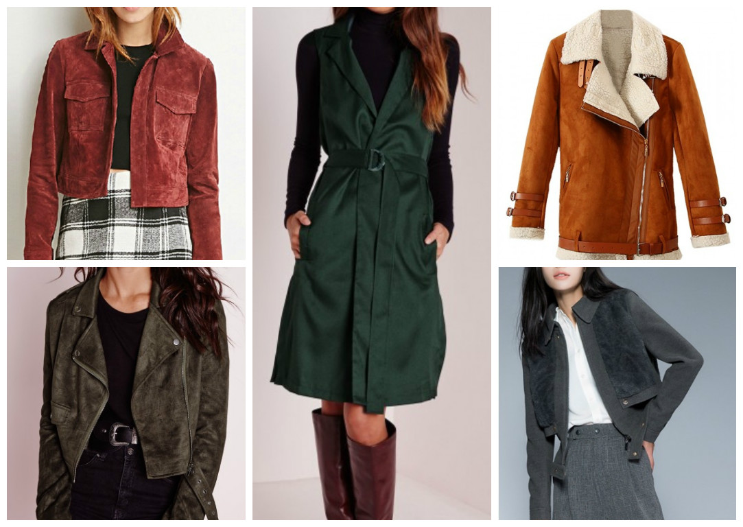 Leather jacket under 100 - Aw Coats Under 100 Suede Effect