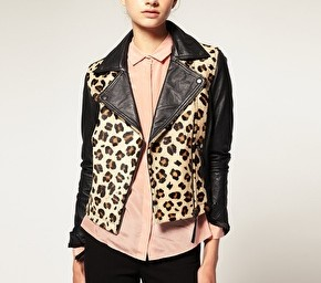 Investment Piece: Leather & Leopard ASOS Biker Jacket.